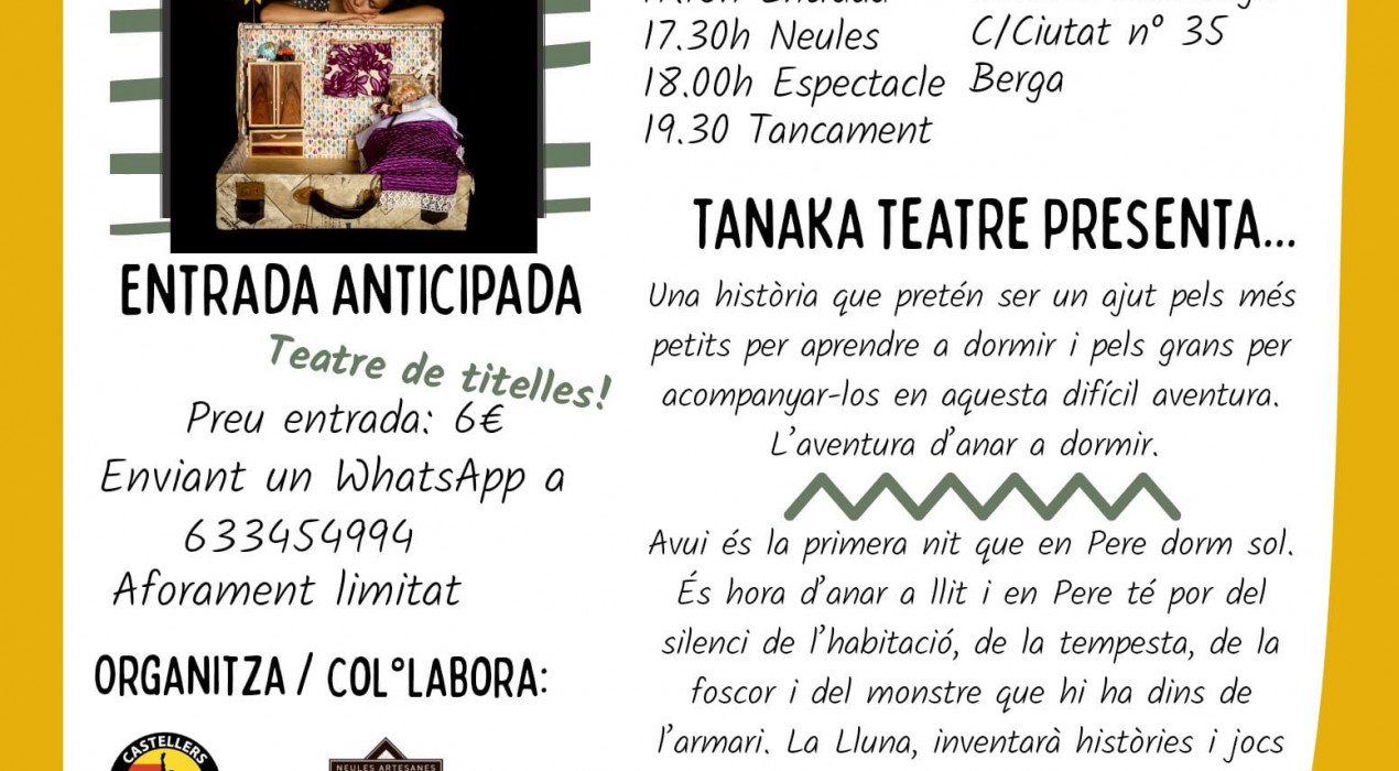 Teatre de titelles: NO TINC POR