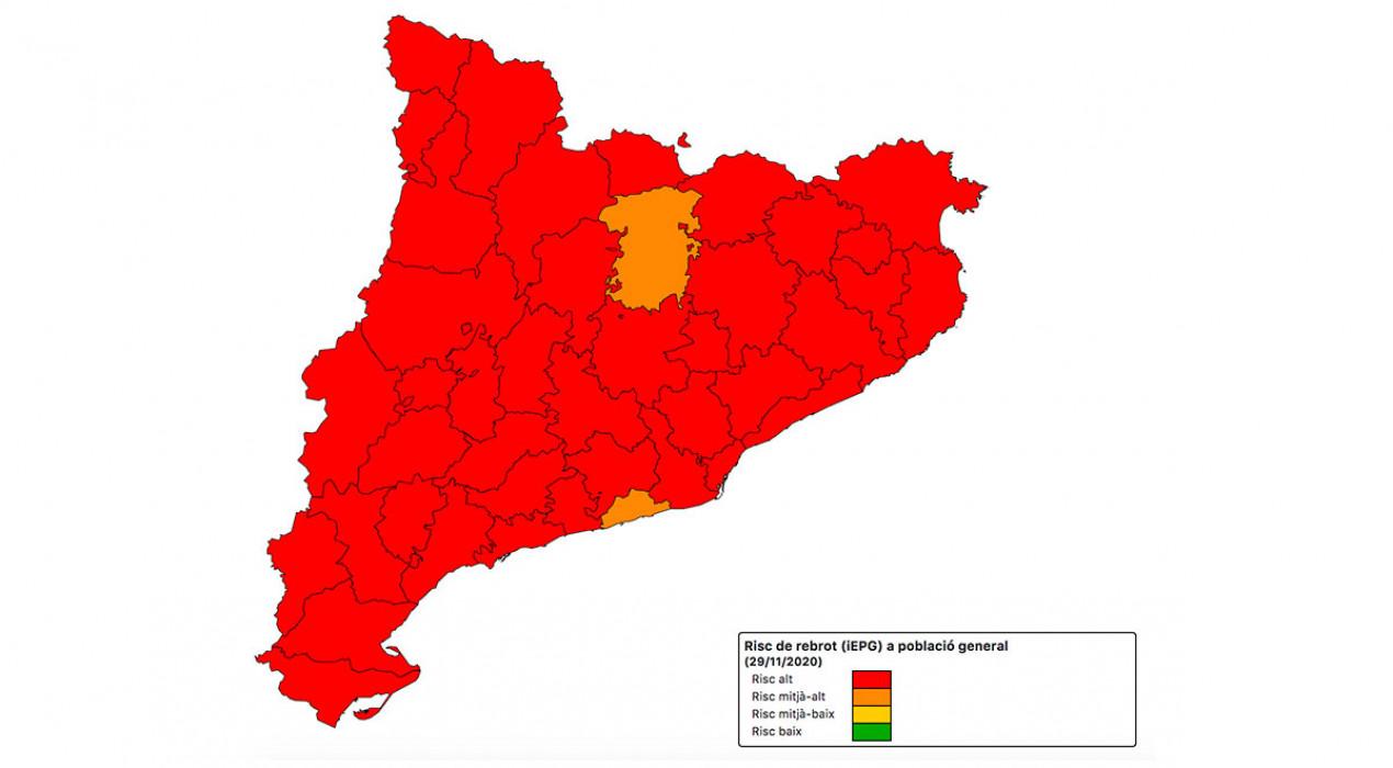 El Berguedà és la comarca amb el risc de rebrot més baix de Catalunya
