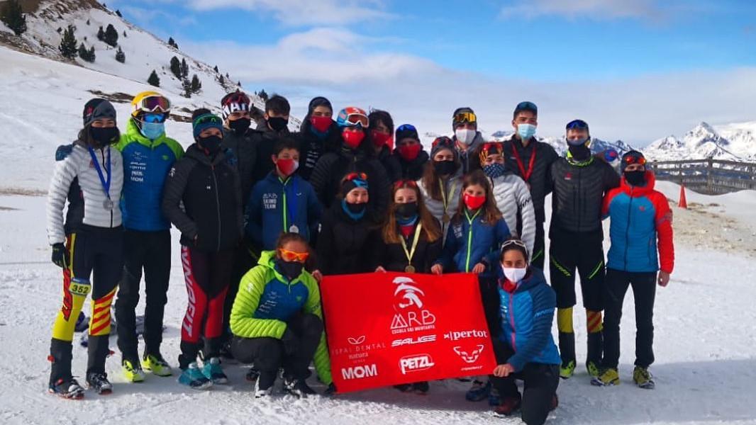 Els joves dels Mountain Runners del Berguedà als capionats Espanya d'skimo (1)