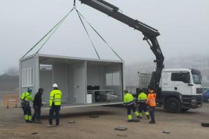 Salut instal·la a Puig-reig el primer mòdul per a l'atenció de la Covid-19 de la Catalunya central