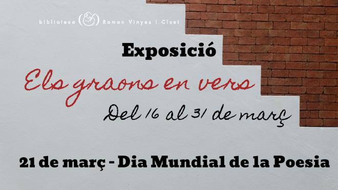 """Exposició """"Els graons en vers"""" @ Biblioteca Ramon Vinyes i Cluet (BERGA)"""