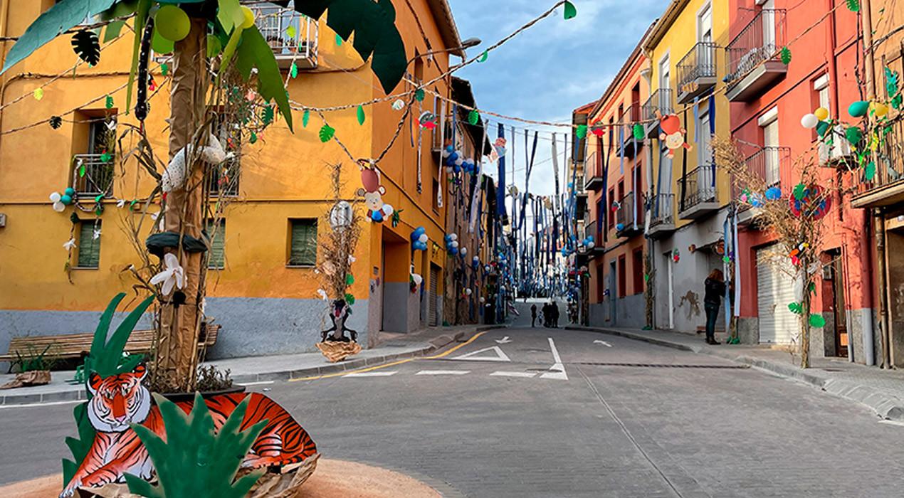 La selva del nucli històric s'endú la batalla de barris del Carnestoltes de Gironella
