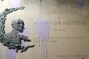 L'oposició de Berga condemna les pintades del 7-M a les esglésies i demanen al govern que faci el mateix