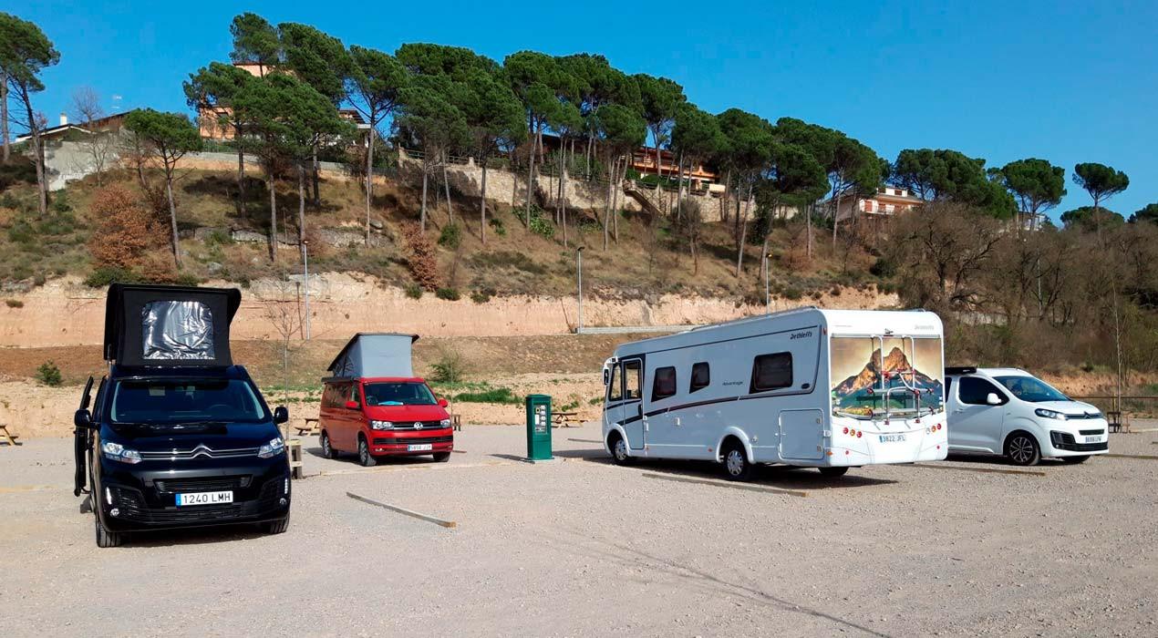 Gironella estrena una nova àrea d'aparcament i acollida d'autocaravanes a la zona esportiva