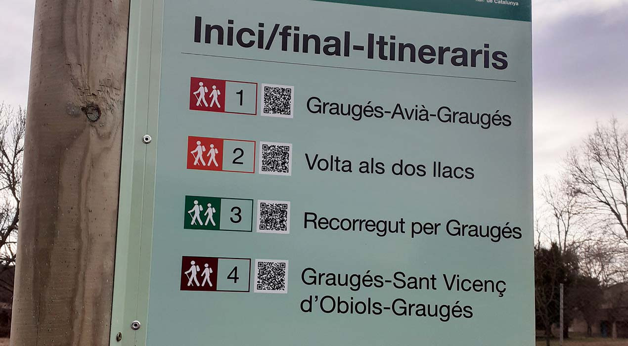 Avià senyalitza quatre rutes circulars per descobrir Graugés i els entorns