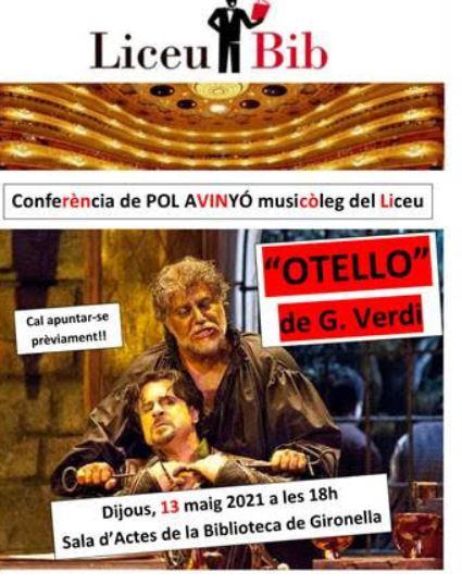 Conferència amb POL AVINYÓ, musicòleg del Liceu @ Biblioteca de Gironella