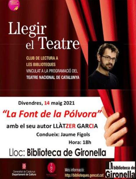 """LLEGIR EL TEATRE: """"La font de la pòlvora"""" @ Biblioteca de Gironella"""