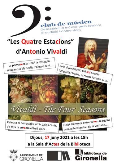 """Club de música: """"Les quatre estacions"""" de Vivaldi @ Biblioteca de Gironella"""