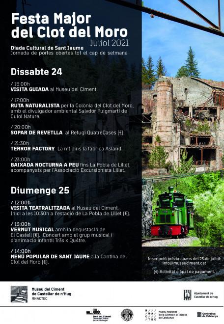 Diada cultural de Sant Jaume i Festa Major del Clot del Moro 2021 @ Museu del Ciment (CASTELLAR DE N'HUG)