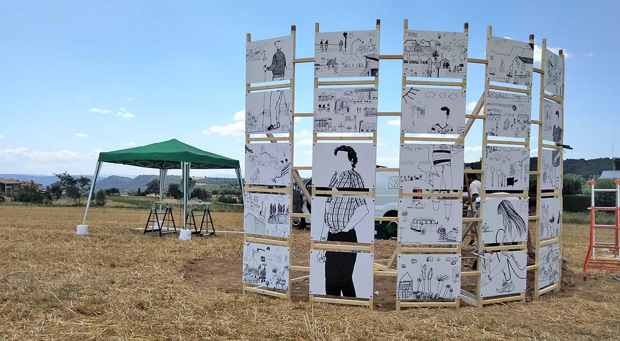 El veïns dibuixen el poble i el camp fa d'aparador, el projecte artístic de l'Ajuntament d'Avià i Konvent d'aquest estiu