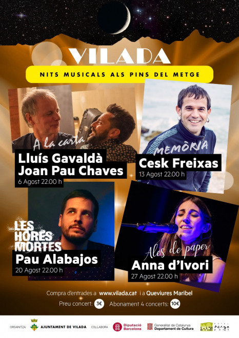 Nits Musicals als Pins del Metge: Pau Alabajos @ Pins del Metge (VILADA)